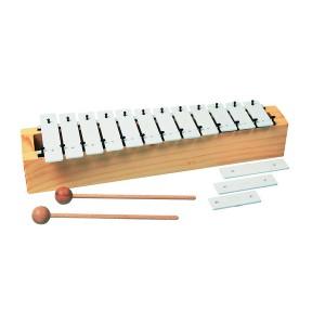 Sopránový metalofón, 15 kláves